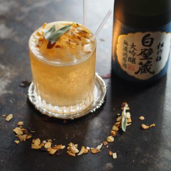 Saké cocktail Daiginjo de chez Sherry Butt par Javier Alesandro Sham Lourenço Guillaume Quenza et Jonathan Le Mée