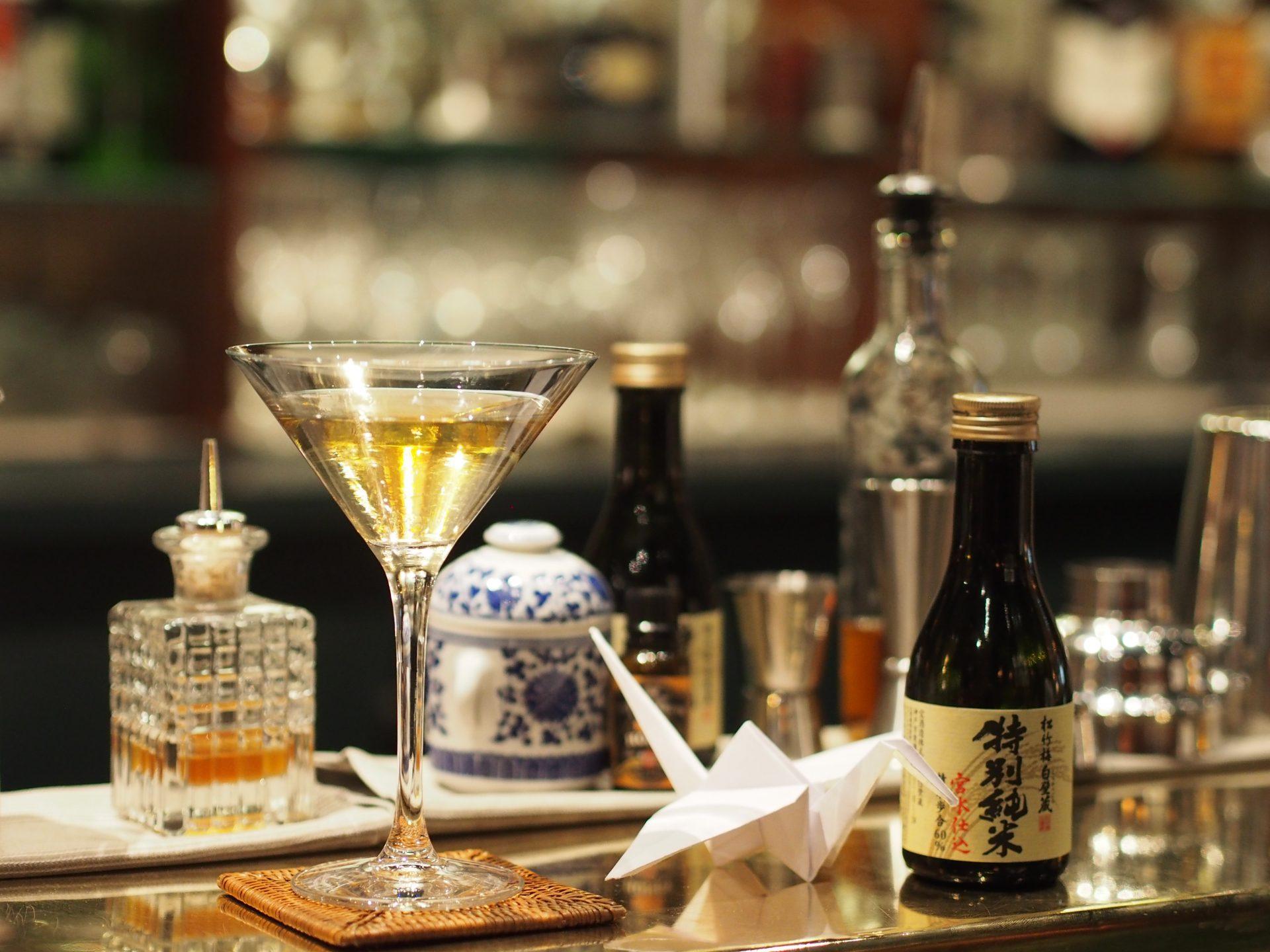 Le cocktail saké Tokubetsu Junmai Shuchen de l'hôtel Westiminster par Sébastien Fraboulet