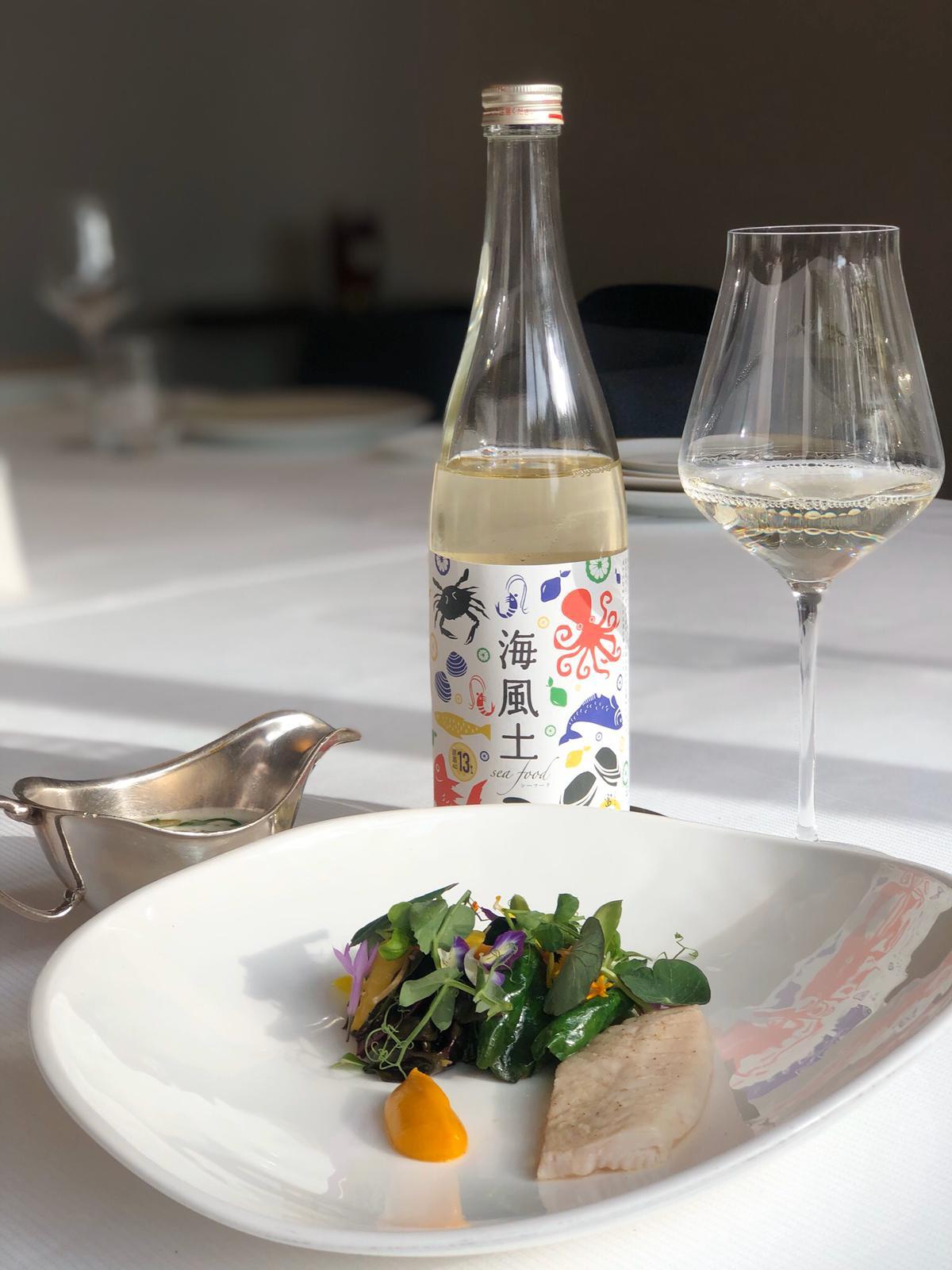202204 Le fukucho « Seafood Shirokoji Junmai Genshu » de la maison saké Imada Shuzo Honten