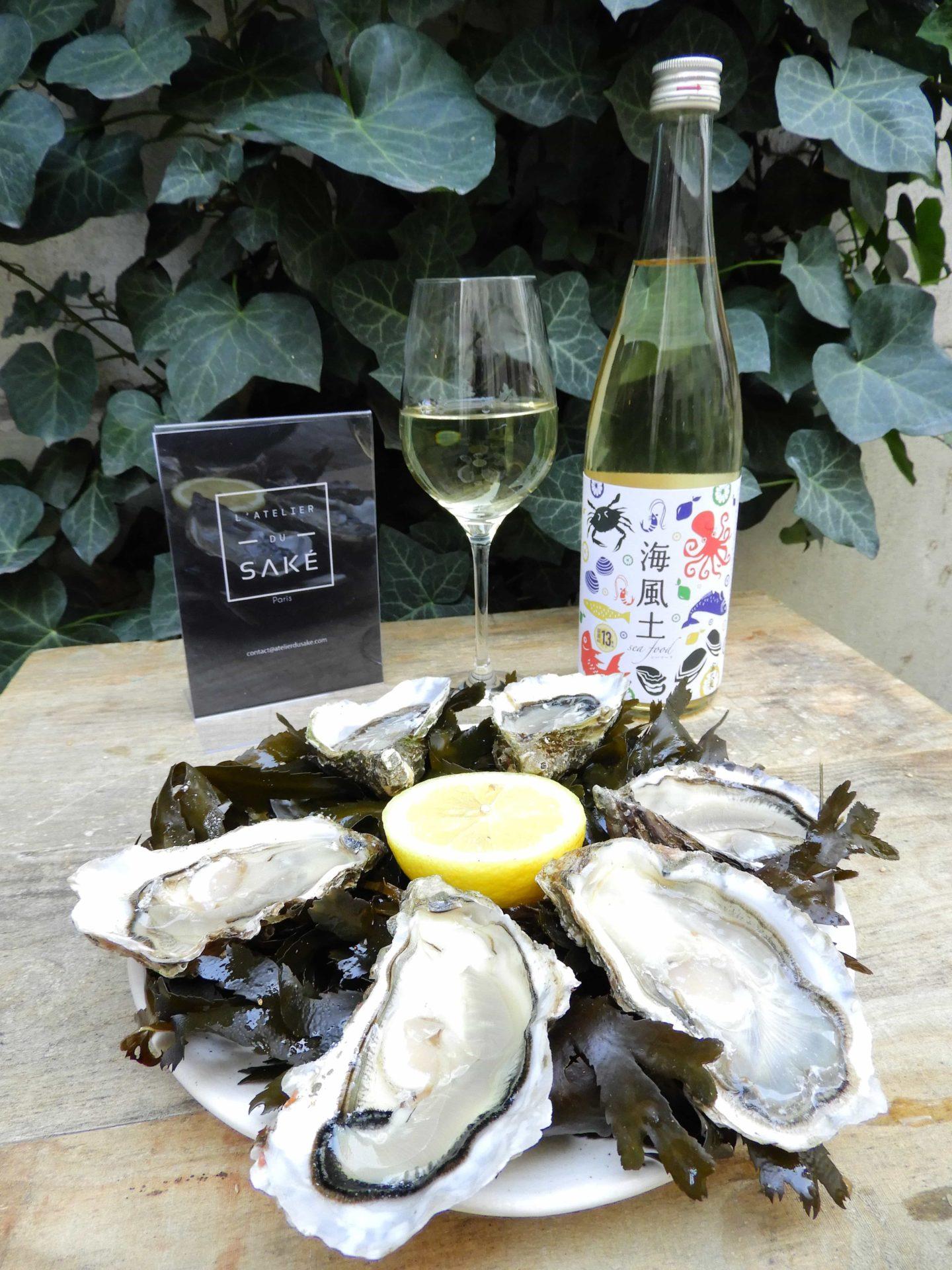 Association saké et huitre avec le saké Seafood de Imada Shuzo