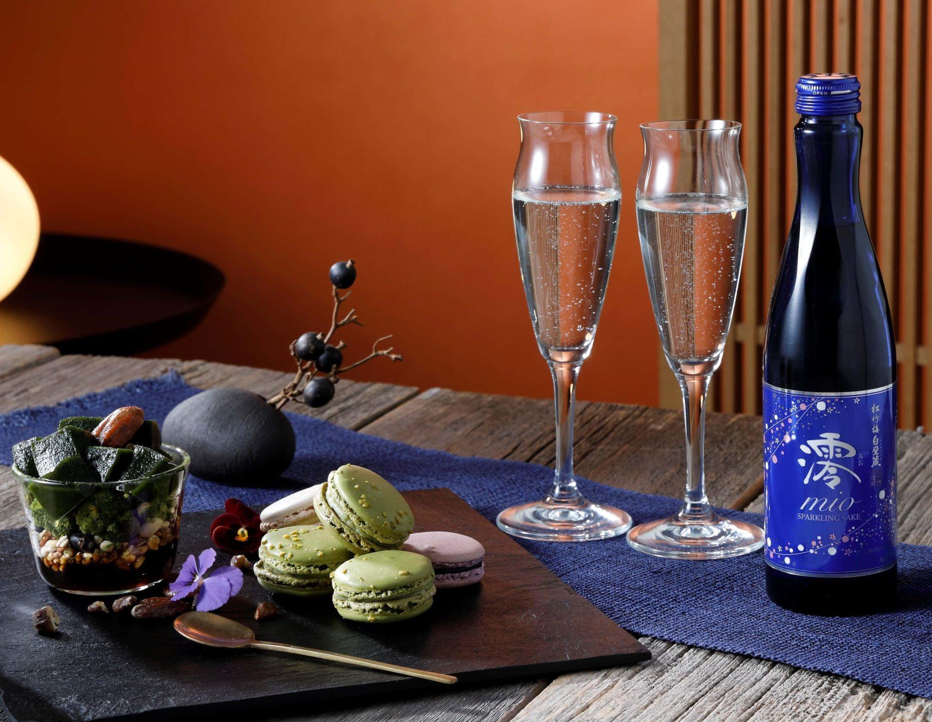 Le saké pétillant Mio et Mio dry de Shirakabegura Takara Shuzô