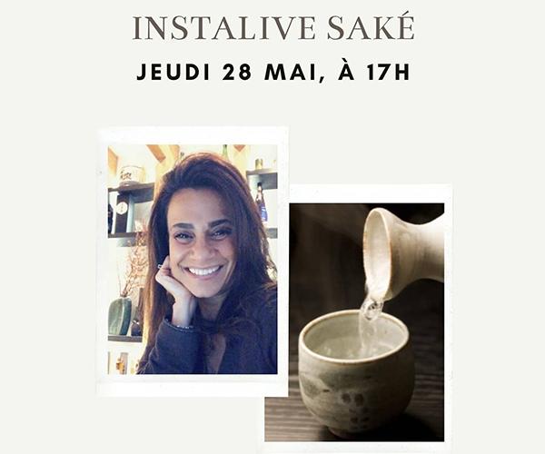 Live instagram Saké avec Maryam Masure, Sake Sommelier